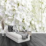 Moda moderna Stereoscopica Fiori bianchi Gioielli Perla Foto Wallpaper Soggiorno Home Interior Decor Parete murale Carta da parati 5D 300x200cm