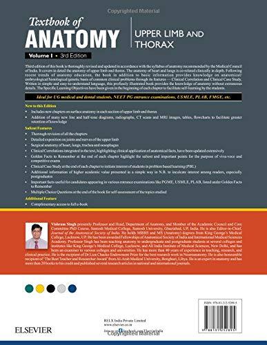 Textbook of Anatomy  Upper Limb and Thorax; Volume 1