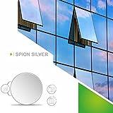 Fenster Folien Set selbstklebende Spiegelfolie Silber 152cm Breite Folie Fensterfolie