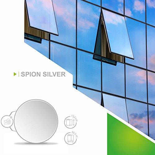 Fenster Folien Set Selbstklebende Spiegelfolie Silber 91cm Breite Folie Fensterfolie