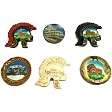 SET 6F - 6 PIECES FRIDGE MAGNETS MAGNET FOR SOUVENIR OF ROME Rome Souvenir From Italy