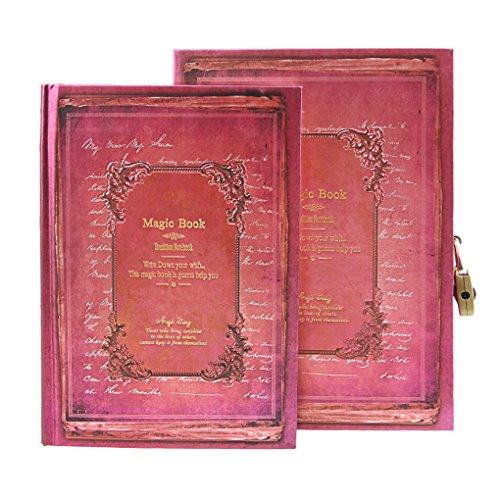 Magie Notizbuch - Retro A5 Tagebuch Travel Diary Sketchbuch Notizblock mit codierten Lock klassische Vintage -Stil Hardcover Notebook für Ihre Gedanke