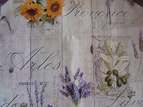 Lavender and Sunflower PVC VINYL OILCLOTH MATERIAL FOR TABLES APRONS CRAFTS ECT Length 1 Metre (Navy Tischdecke Blue Vinyl)