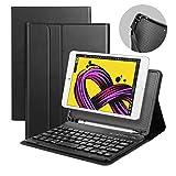 iPad MINI 4 Tastiera Bluetooth Staccabile QWERTY Italiano Layout Ultrathin Custodia con Regolazione Dell'angolo Anti Scivolo Protezione Completa per iPad Mini 4 (A1550/A1538)Nero