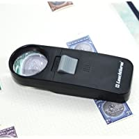 Pocket magnifier 7 x with integrated LED lamp