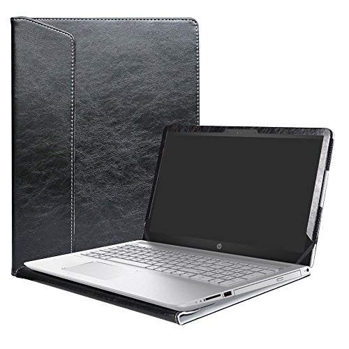 Alapmk Diseñado Especialmente La Funda Protectora de Cuero de PU Para 15.6' HP Pavilion 15 15-ccXXX 15-cdXXX/Pavilion Power 15 15-cbXXX Series Ordenador portátil,Negro