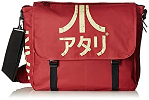 ATARI Messenger Bag with Japanese Logo, Crimson Red (MB221005ATA)