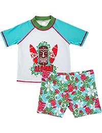 Traje de Baño para Niños - Ropa de Natación para Bebés Ropa de Baño de Manga Corta y Pantalones Cortos 1-6 Años