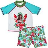 Gogokids Costume da Bagno per Bambini - Nuoto Abbigliamento Maniche Corte T-Shirt da Bagno e Pantaloncini 1-6 Anni