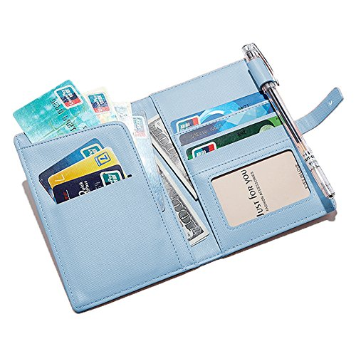 Zhaoyun Travel Passport Wallet Umschlag Dokument Slim Cover Card Case Organizer Halter mit kostenlosem Stift