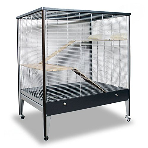 Montana Cages ® | Riesige Nagervoliere Happy Home 99A - Platinum/Oak Nagerkäfig für Maus & Co.
