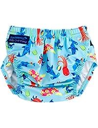 Pañuelo de natación Konfidence AquaNappy - Caracteres Cian