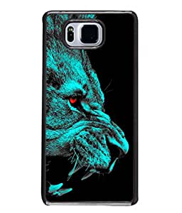 Fuson Designer Back Case Cover for Samsung Galaxy Alpha :: Samsung Galaxy Alpha S801 :: Samsung Galaxy Alpha G850F G850T G850M G850Fq G850Y G850A G850W G8508S :: Samsung Galaxy Alfa (Danger Roar Shikar Jungle Men Man Boys )