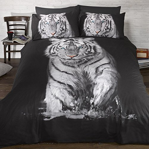 Weißer Tiger einzelner Bettbezug