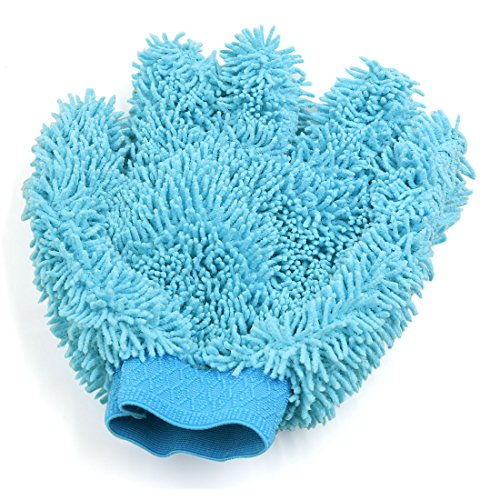 sourcingmapr-azzurro-cielo-microfibra-auto-lavaggio-pulizia-guanto