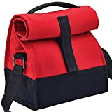 #7: Lunch Bags for Office - Stylish Insulated Classy Canvas Sling for Women and Men - Red