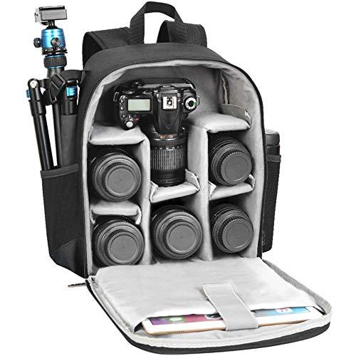 CADeN Mochila Cámara Réflex Professional para DSLR/SLR Cámara sin Espejo a Prueba de Agua, Compatible con Sony Canon Nikon Accesorios para cámara y trípode de Lentes