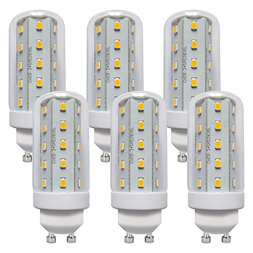 LED Leuchtmittel T30 Röhre 4W Corn 3000K warmweiß 360° (GU10, 6 Stück) -