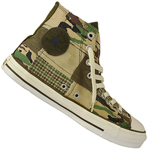 CONVERSE CHUCK TAYLOR ALL STAR CAMOUFLAGE MILITARY PATCH HI TURNSCHUHE SNEAKER, Schuhgröße:EUR 35;Farbe:Camouflage