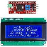 SunFounder IIC I2C TWI Interfaz Serial 2004/20x4 LCD Display Módulo Module Shield para Arduino Uno Mega2560