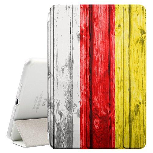 "FJCases Süd-Ossetien Holzmuster Flagge Smart Cover Tablet-Schutzhülle Hülle Tasche + Auto aufwachen / Schlaf Funktion für Apple iPad Pro (12.9"")"