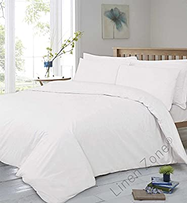 """Linen Zone 400 Thread Count Extra Deep 40CM/16"""" Fitted Bed Sheet 100% Egyptian Cotton Super Soft Hotel Quality from Linen Zone"""