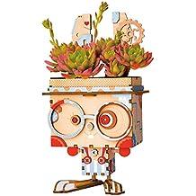 Rolife Cactus Macetas Jardineros de Macetas 3D Maceta de Madera Cumpleaños Maceta Regalos de Navidad para