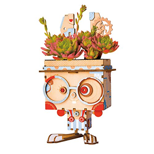 Rolife Neuartiger Blumentopf/Entzückender dekorativer Pflanzenhalter/Stiftehalter Geschenke für Kinder (Bunny)
