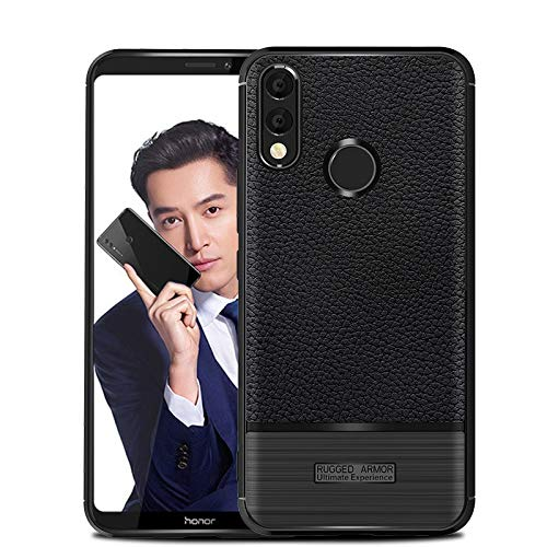 CruzerLite Honor Note 10 hülle, Flexible Slim Case with Leather Texture Grip and Shock Absorption TPU Cover Schutzhülle für Huawei Honor Note 10 (Black)