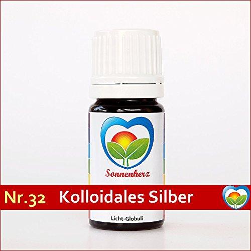 Sonnenglobuli Nr. 32 Kolloidales Silber 100% von Sonnenherz - feinstoffliche energetische Lichtglobuli