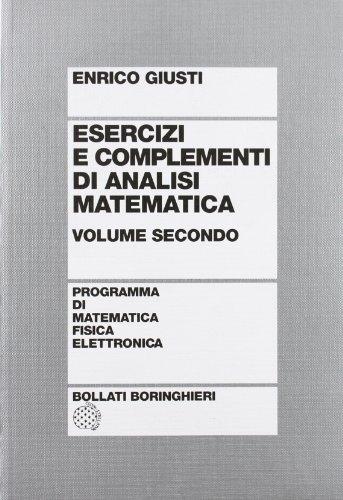 Esercizi e complementi di analisi matematica: 2