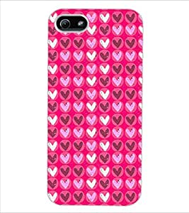 ColourCraft Hearts Design Back Case Cover for APPLE IPHONE 5S