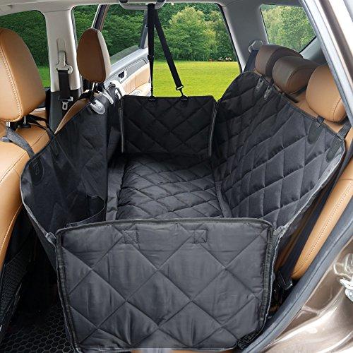 Sitzbezug Hängematte (Autositzabdeckung mit Klappen von Dstana, wasserdicht, für Hunde, kratzfester Sitzbezug, Hängematte, weiches, nichtrutschendes Material, Barriere für Autos, Trucks, SUVs)