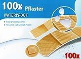 100x PFLASTER Set Wasserfest mit Antihaft-Polster Pflasterset Wundpflaster