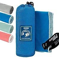 Backpacker's Journey Mikrofaser Handtücher in S M L XL. Reisehandtuch Sets leicht, schnelltrocknend, saugfähig und antibakteriell