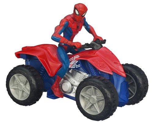 Spider - Man - 98722 - Figurine Movie - Véhicule Zoom'n'go - Quad