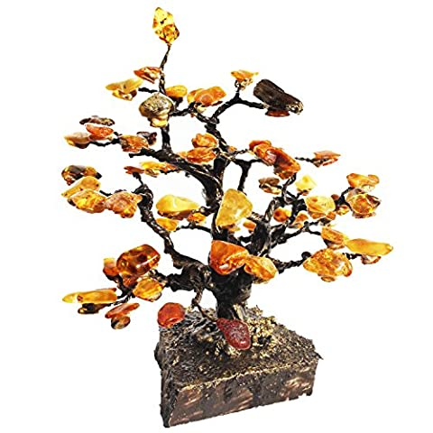 Strikingly beautiful Amber Tree Ornaments mounted on marble 20.5cm , honey-golden amber. Perfect unique gift for your home, Home Living Home Décor