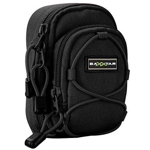 Bundlestar Blackstar V4 Kameratasche Schwarz Größe (L) z. B. für - Nikon Coolpix S9900 A900 - Panasonic Lumix DC TZ202 TZ91 DMC TZ101 LX15 - Canon SX730