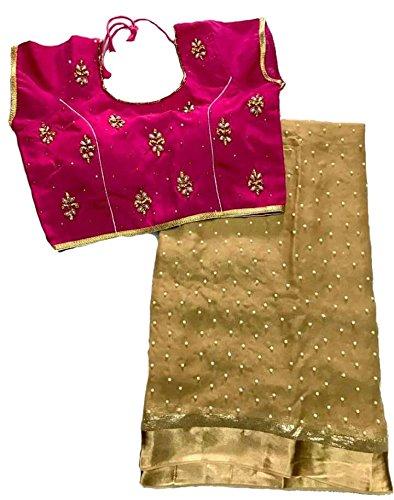 Balaji Fashion Brocade & Georgette Saree (D.No Dvs 5003_Multi-Coloured)