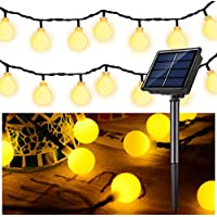 Solar String Light Fairy Lamp 30 LED 6 Meter Light Strip Globe Ball Waterproof Decoration for Indoor Outdoor Home Bedroom Garden Party Festival Holiday Wedding (Warm White)