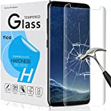 Samsung Galaxy S8 Plus Schutzfolie Schutzglas,Yica Galaxy S8 Plus Schutzfolie HD Clear Screen protecter Curved Panzerglas Schwarz 9H Tempered Glass für Samsung Galaxy S8 Plus