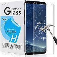 Samsung Galaxy S8 Plus Schutzfolie Schutzglas,Yica Galaxy S8 Plus Schutzfolie HD Clear Screen protecter Curved Panzerglas Schwarz 9H Tempered Glass für Samsung Galaxy S8 Plus