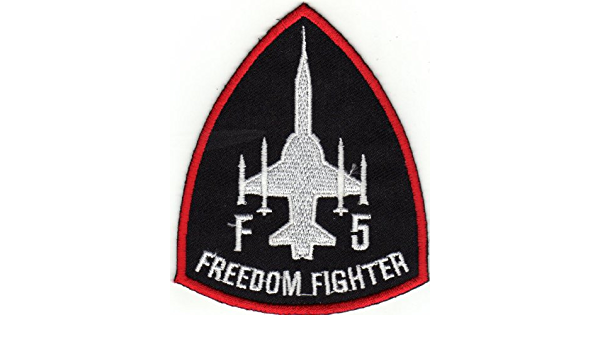 Graphic Dust Northrop F-5 Freedom Fighter Tiger II Air Force Embroidered Iron On Patch Applique Army Costume Jacket