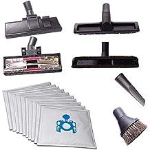 4 diferentes Staubsaugerdüsen (enmoquetadas, HARTBODEN - Y Amp; Cepillo para limpiar el polvo y grietas 10 incluye bolsas al vacío para aspiradoras para aspiradores Miele Tango Plus