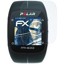 3 x atFoliX Antichoque Película Protectora Polar M400 Protector Película - FX-Shock-Clear