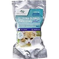 Naturonia Elimina olores gato y fragancia Talco Caja con 2 sobres