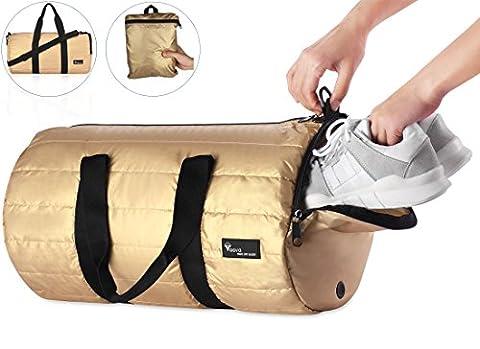 voova 20L Duffel Bag faltbar Lauf Gym Sports Herren Frauen Reisen Gepäck hodall leicht verstaubarer Wasserdicht schwere Urlaub Tasche mit Fach für Schuhe