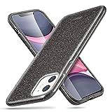 esr Coque pour iPhone 11 Noir, Coque Silicone Paillette Strass Brillante Bling Bling Glitter de pour Apple iPhone 11 (2019) 6,1 Pouces (Série Glamour, Noir Pailleté)