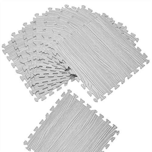 Deuba Bodenschutzmatte Puzzlematte 8 STK 45,5x45,5cm rutschfest wärmeisolierend Schutzmatte Fitnessmatte Kinderbodenmatte Yoga