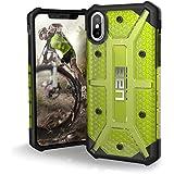 Urban Armor Gear Plasma Schutzhülle nach US-Militärstandard für Apple iPhone X - transparent (gelb) [Verstärkte Ecken | Sturzfest | Antistatisch | Vergrößerte Tasten] - IPHX-L-CT